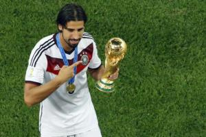 Sami Khedira with the World Cup won in Brazil